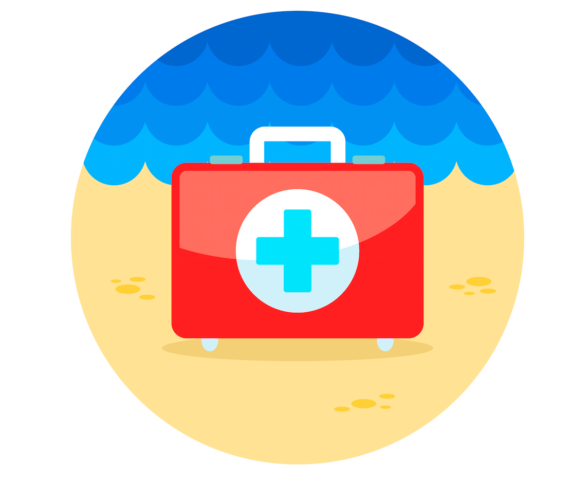 first aid at beach