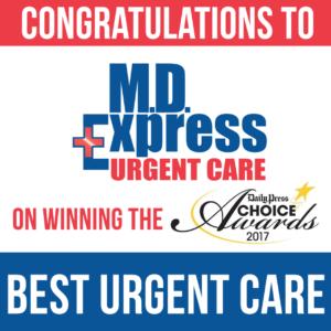 M D Express Urgent Care Centers Have Won Best Urgent Care In 2017